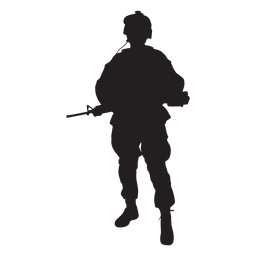 Special forces soldier silhouette