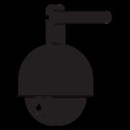 Icono de cámara de seguridad de cúpula de velocidad