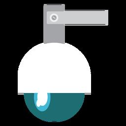 Ilustração de câmera de segurança cúpula de velocidade