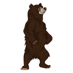 Standing brown bear cartoon
