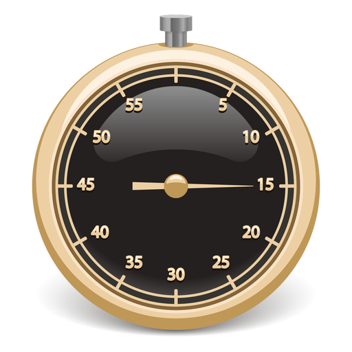 Stopwatch 3d icon Transparent PNG