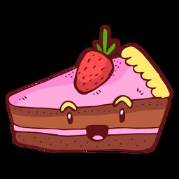 Pastel de fresa personaje de dibujos animados
