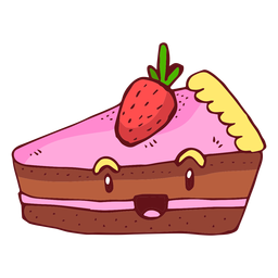 Strawberry cake character cartoon