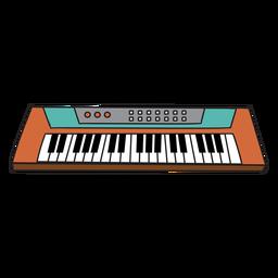Doodle de instrumento musical de sintetizador