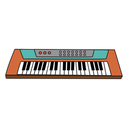 Synthesizer Musikinstrument Gekritzel