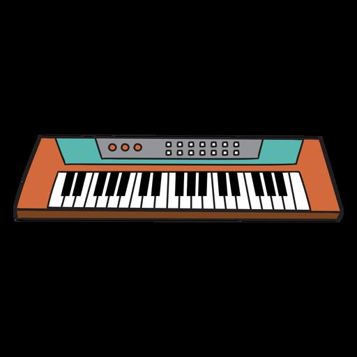 Sintetizador de instrumentos musicales doodle.