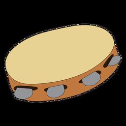 Doodle de instrumento musical de pandeiro