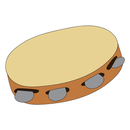 Doodle de instrumento musical de pandereta