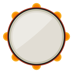 Tambourine musical instrument icon
