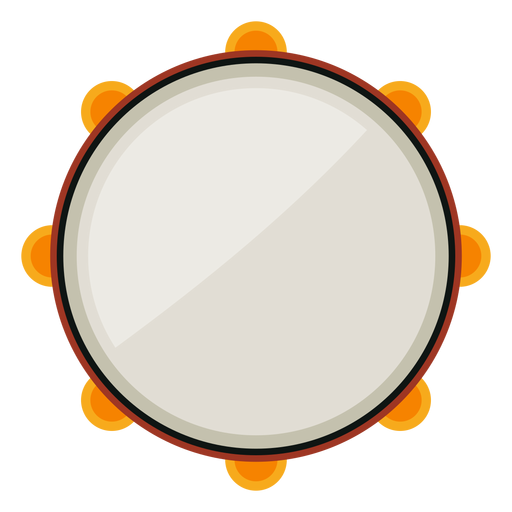 Tambourine musical instrument icon Transparent PNG