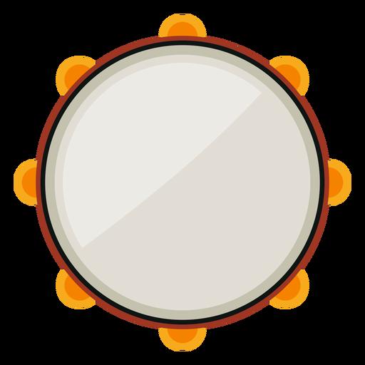 Tambourine musical instrument icon