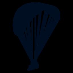Silhueta de paragliding em tandem
