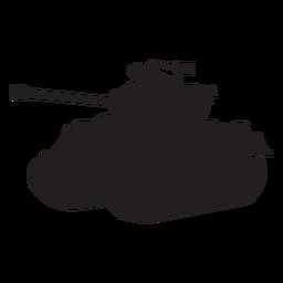Silhueta de veículo blindado de tanque