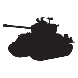 Tank armoured vehicle silhouette