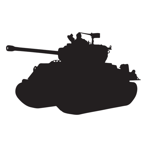 Tank armoured vehicle silhouette Transparent PNG