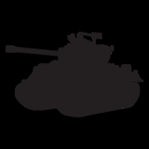 Tanque silueta vehículo blindado Transparent PNG
