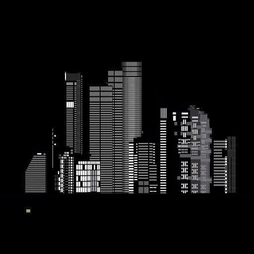 Silueta de tel aviv skyline Transparent PNG