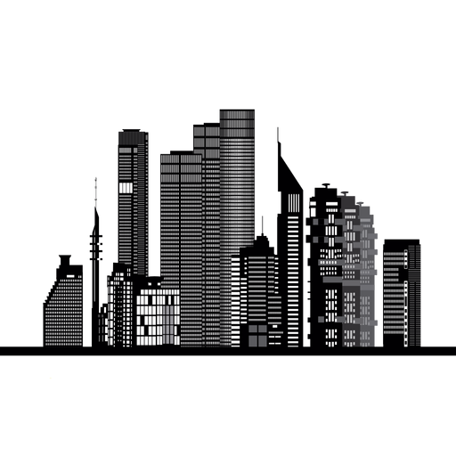 Tel aviv skyline silhouette Transparent PNG