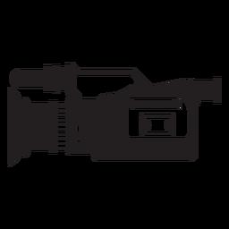 Icono de cámara de televisión plana