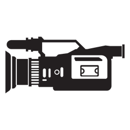 Television camera flat icon