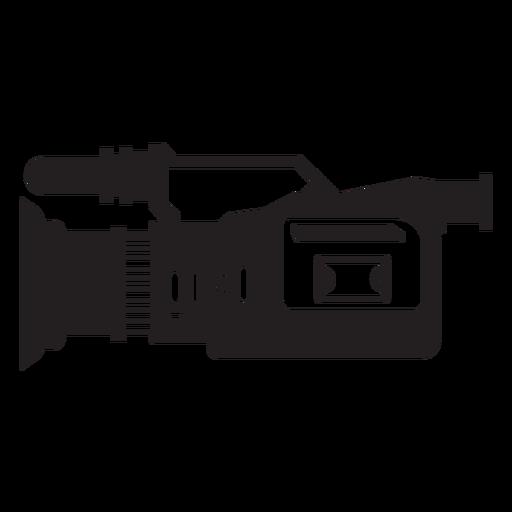 Ícone plana da câmera de televisão Transparent PNG