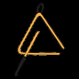 Doodle de instrumento musical triángulo