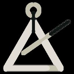 Icono de instrumento musical de triángulo