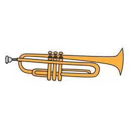 Doodle de instrumento musical de trompeta
