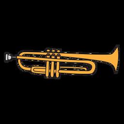 Doodle de instrumento musical de trompete
