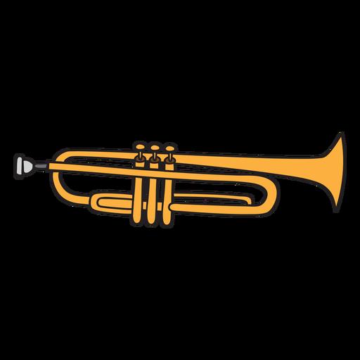 Doodle de instrumento musical de trompete Transparent PNG