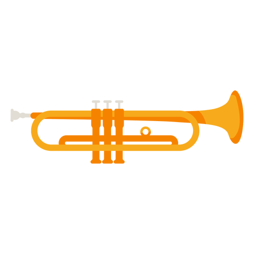 Trumpet musical instrument icon Transparent PNG