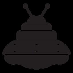 Unbekanntes fliegendes Objekt-Symbol