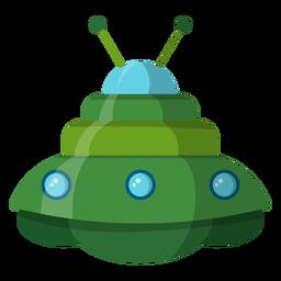 Ilustración de objeto volador no identificado