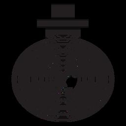 Flache Ikone der Videokamera-Sicherheit