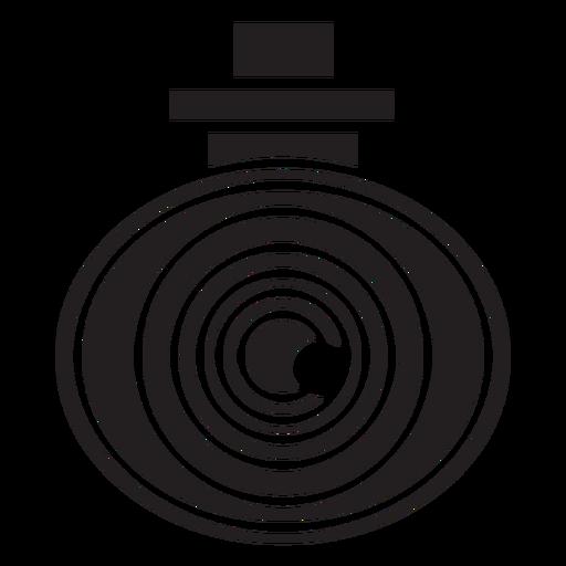 Icono plano de seguridad de cámara de video Transparent PNG