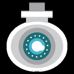Ilustração de segurança de câmera de vídeo