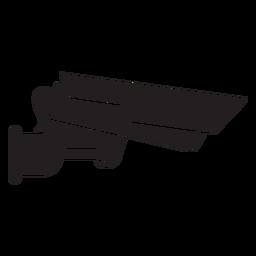 Cámara de video vigilancia icono plana