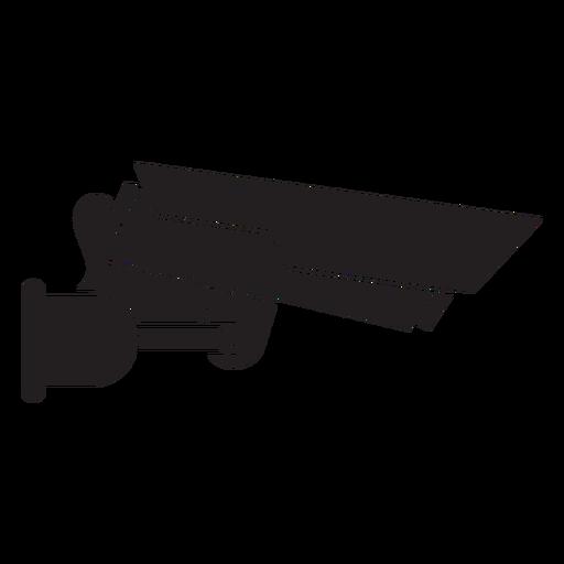 Cámara de video vigilancia icono plana Transparent PNG
