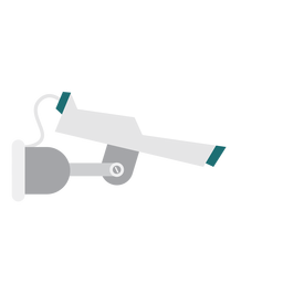 Video camera surveillance illustration