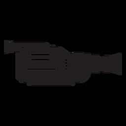 Cámara de video icono plana