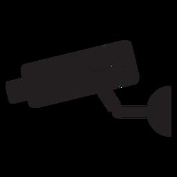 Ícone plano de câmera de segurança de vídeo