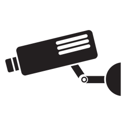 Video security camera flat icon