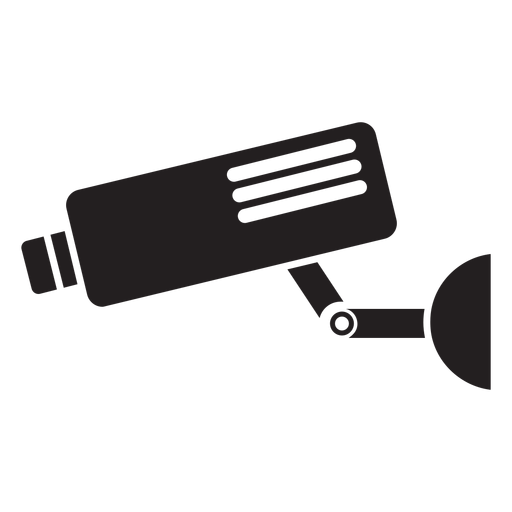 Video security camera flat icon Transparent PNG