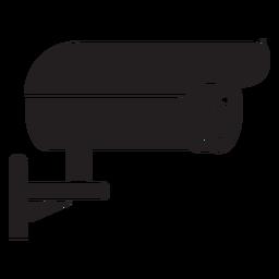 Cámara de video vigilancia plana icono