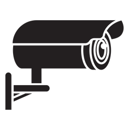 Video surveillance camera flat icon