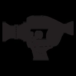 Icono plano de cámara de película vintage