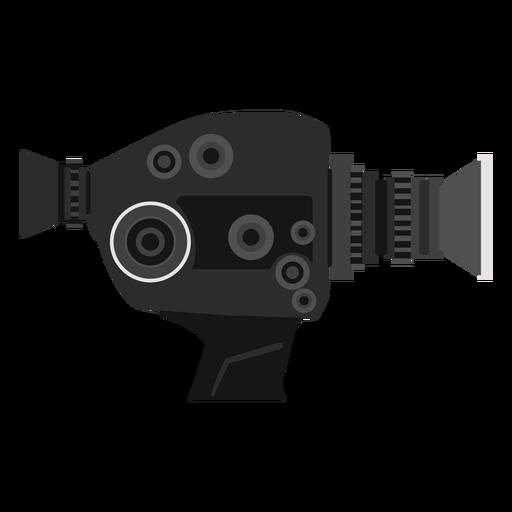 Vintage movie camera illustration Transparent PNG