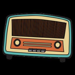 Doodle de rádio vintage