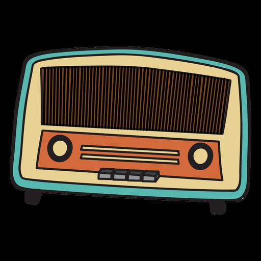 Doodle de rádio vintage Transparent PNG