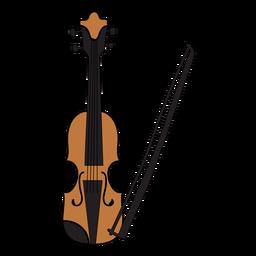 Doodle de instrumento musical de violín.